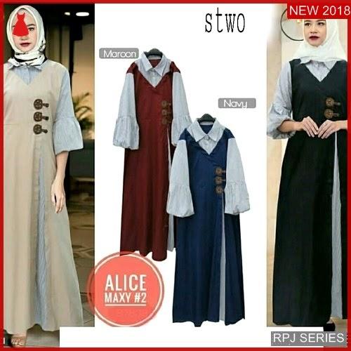 RPJ025D108 Model Dress Alice Cantik Maxy Wanita