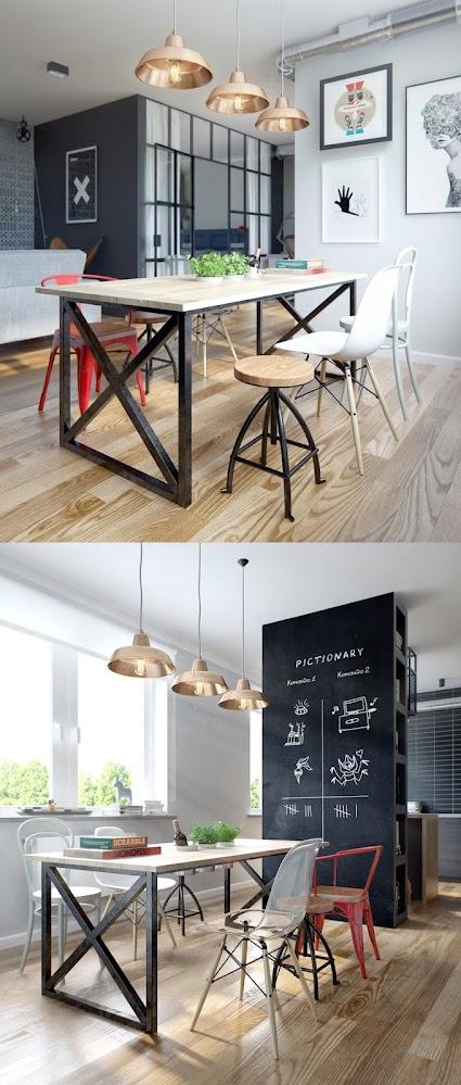 artsy-dining-room
