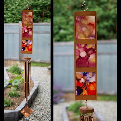 One of a kind original art colorful wind chime Coast Chimes