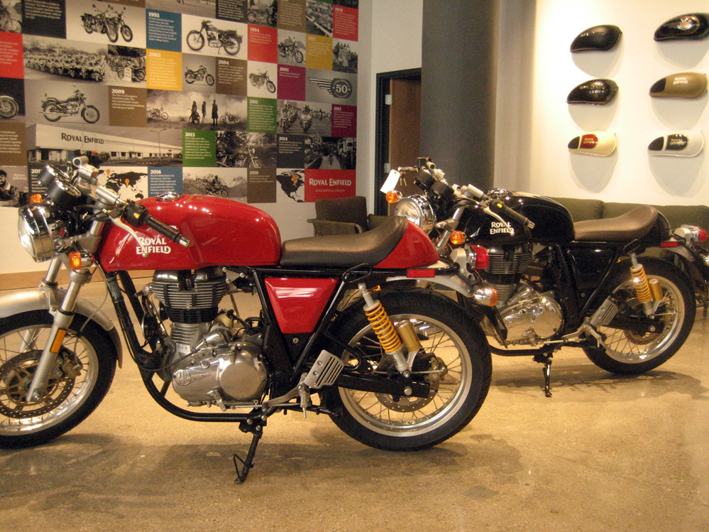 Royal Enfield Milwaukee showroom.