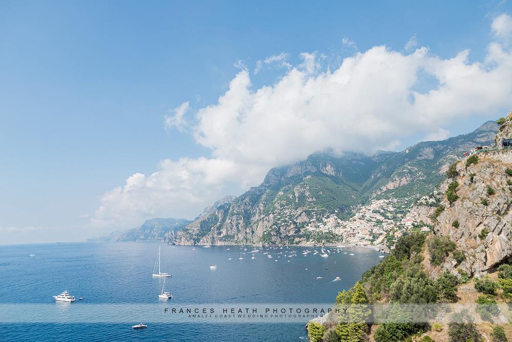 View of Positano from San Pietro hotel