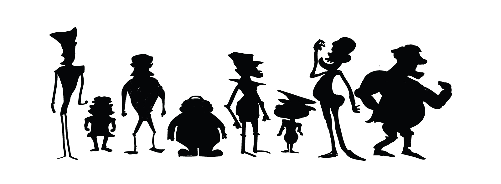 Play Well Art Blog: SIlhouette Practice