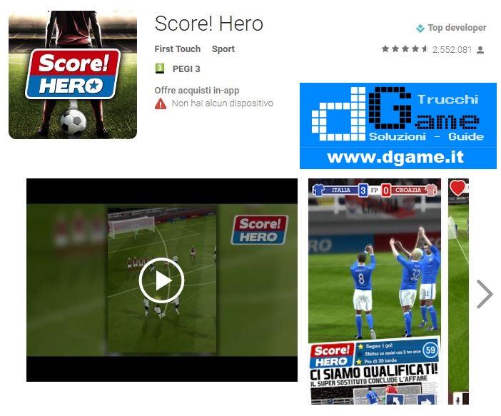 Soluzioni Score! Hero livello 461-470 | Trucchi e Walkthrough level
