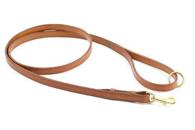 Guinzaglio artigianale da 1,5 m in cuoio chiaro con moschettone in ottone intercambiabile