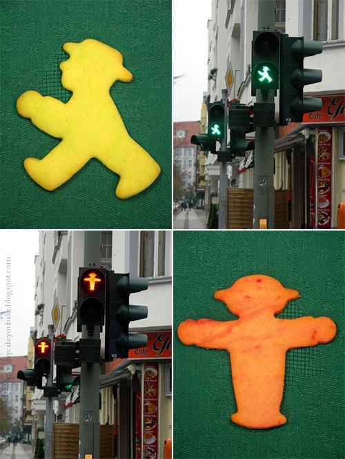 Ampelmann - ciasteczka w kształcie ludzika z sygalizatora świetlnego