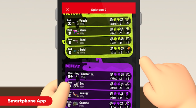 Splatnet 2.0 Splatoon 2 Nintendo Switch Online Bowser Jr. Splat Roller Peach Charger X rank score