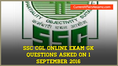 SSC CGL Questions 1 September 2016