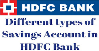 Different types of Savings Account in HDFC Bank