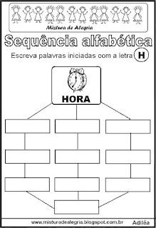 Sequência alfabética letra H
