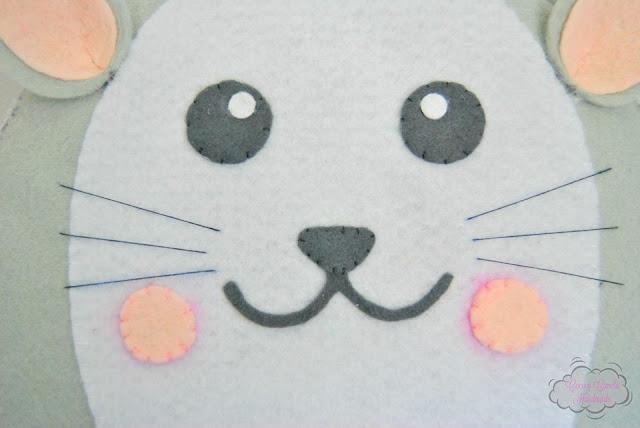 globo aerostatico de gato en fieltro