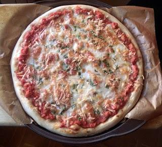 PIZZA DE POLLO TIKKA AVES COCINA GASTRONOMIA RECETA ITALIANA INDIA