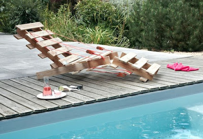 Silla playera con rejas de madera recicladas