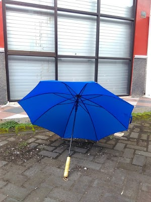 Payung Standar Otomatis Warna Biru Polos