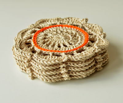 Crochet coaster - tutorial