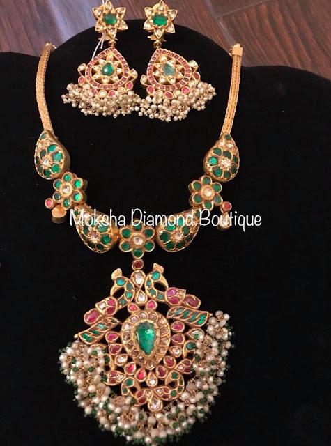 Emerald Necklaces by Moksha Diamonds