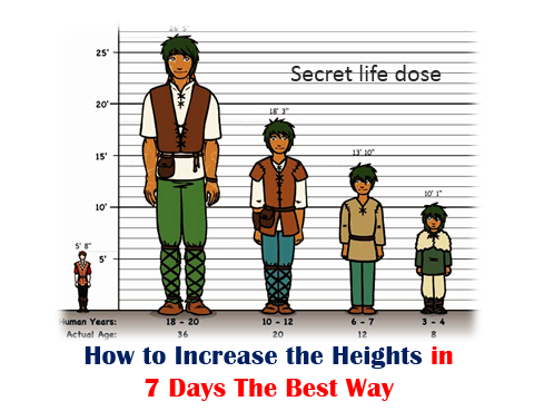 How to Increase the Heights in 7 Days The Best Way,secret life dose