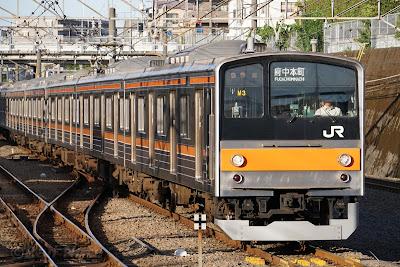 武蔵野線東所沢駅に到着する205系5000番台