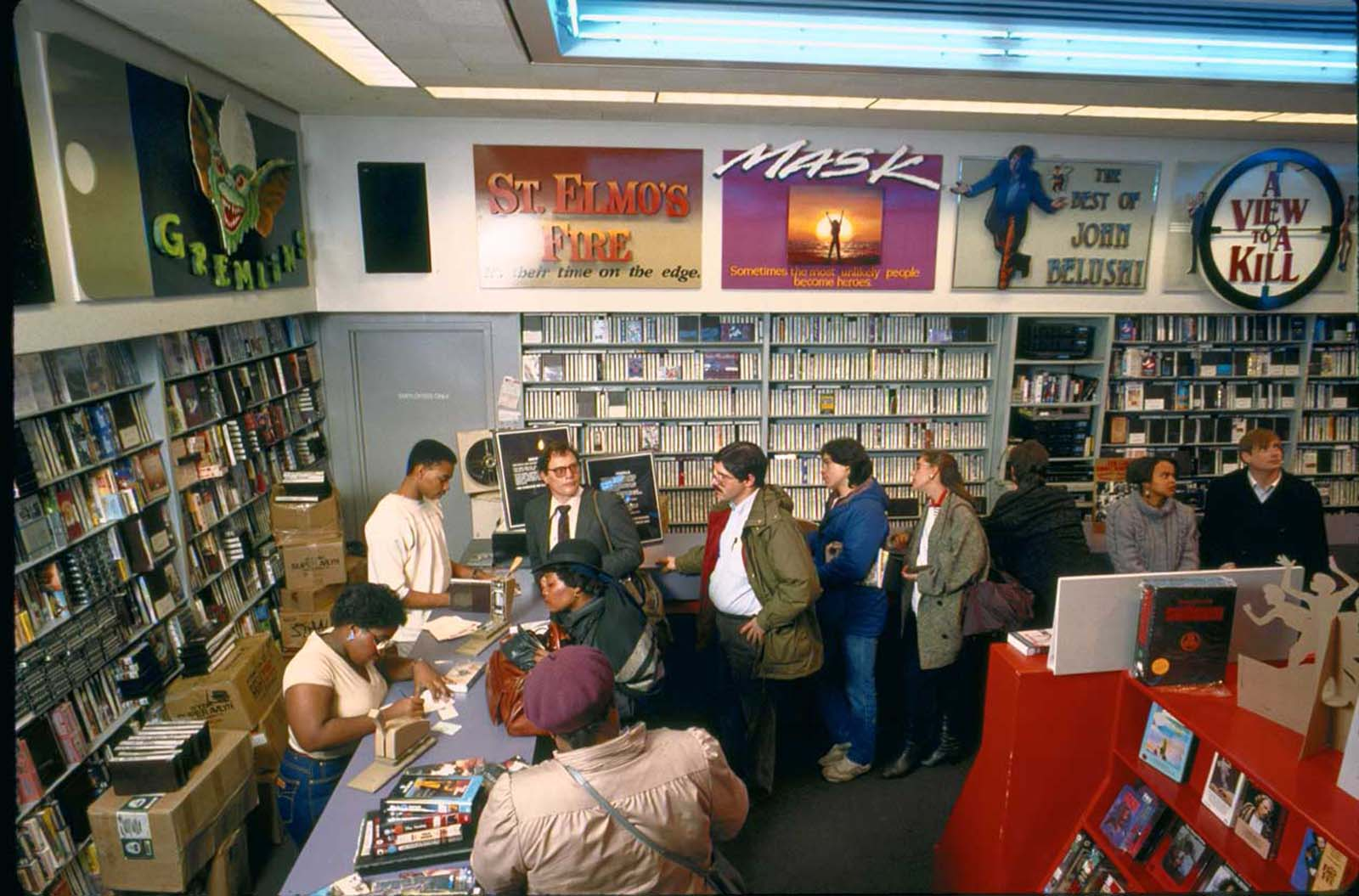 Inside a Tower Video store. 1986.