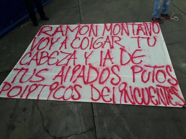 """Aparecen 4 narcomantas sobre la México-Puebla """"vamos a colgar tu cabeza y la de tus aliados"""""""