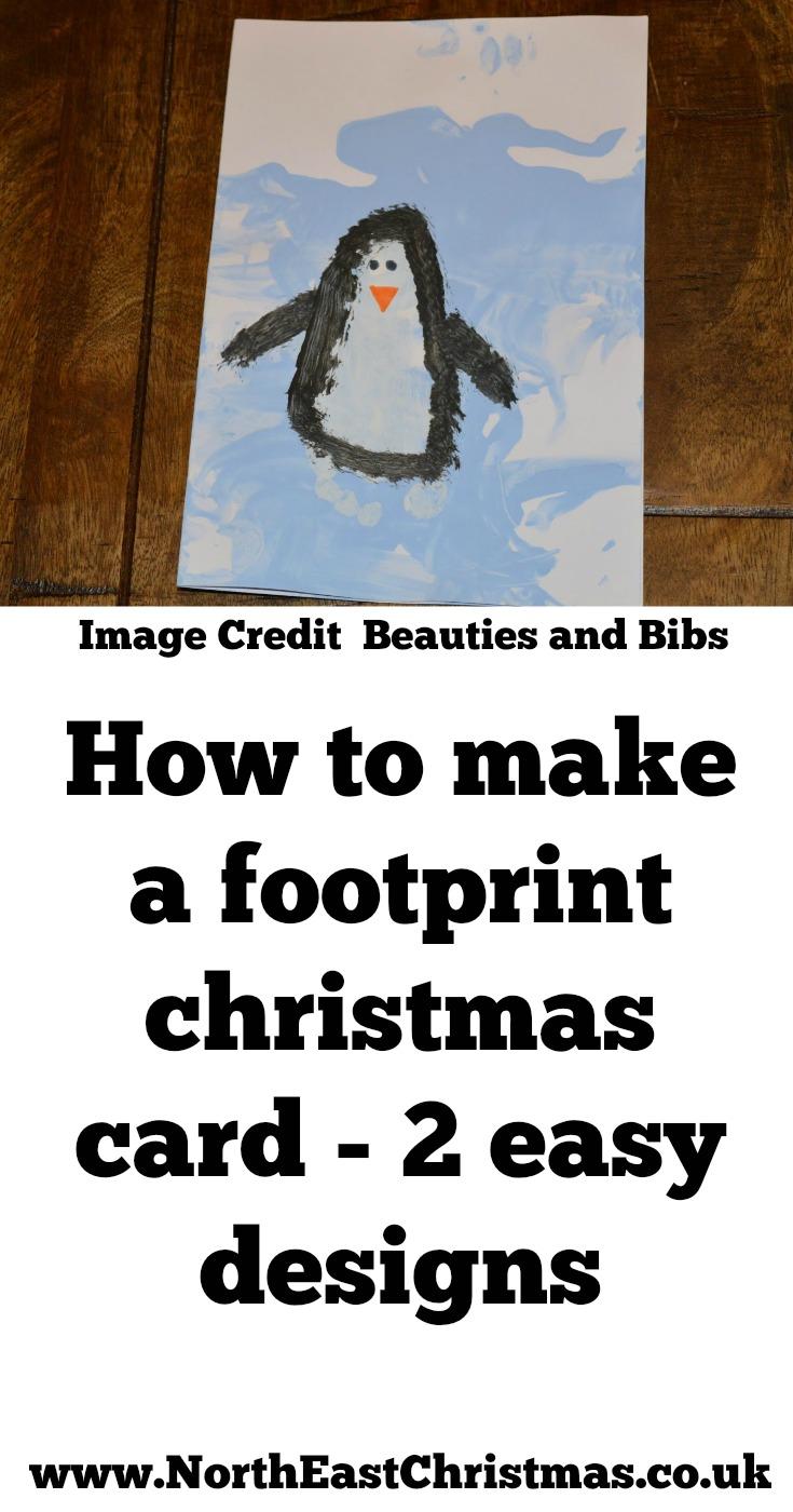 Penguin Christmas Cards Homemade.How To Make A Homemade Footprint Christmas Card 2 Designs