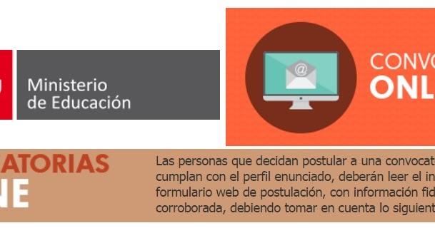 Convocatoria de trabajo online en el ministerio de for Convocatoria docentes 2016 ministerio de educacion