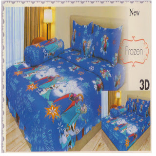 sprei 3d lady rose Frozen
