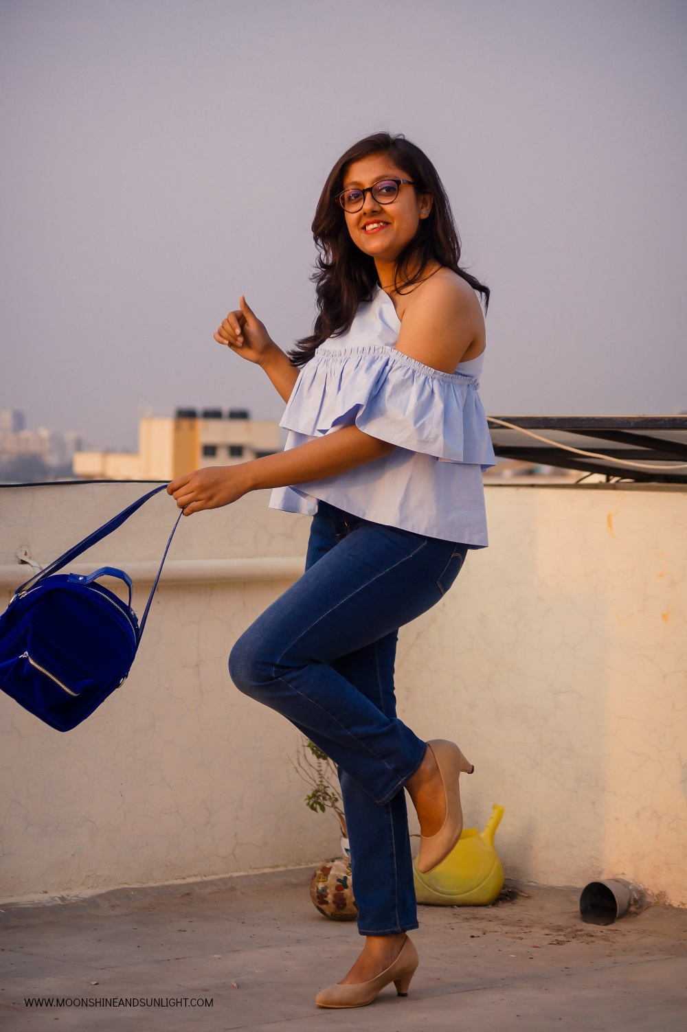 Indian fashion blogger, Bangalore, styling one shoulder