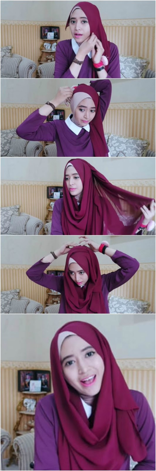 34 Tutorial Hijab Ala Natasha Farani Vs Ria Ricis 2017 Favorit
