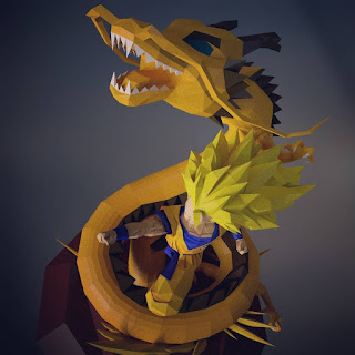 goku soco do dragao papercraft