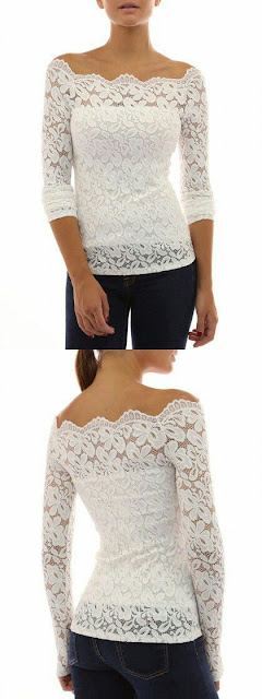 Off shoulder lace style
