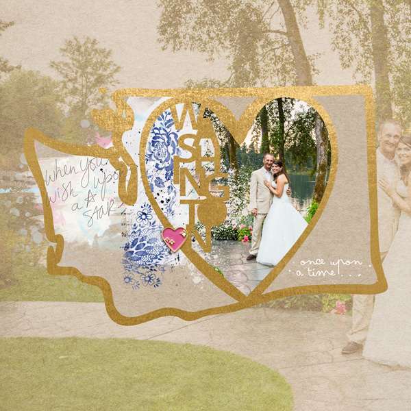 Washington State Scrapbook Wedding page.