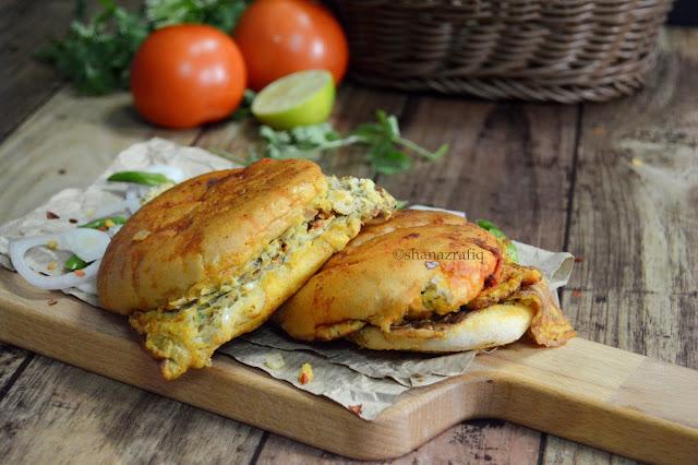 Street Style Masala Egg Bun | Bun Omelet ~ Disco Omelet