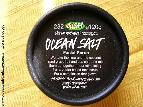 Weekend Ramblings Lush Ocean Salt Face And Body Scrub
