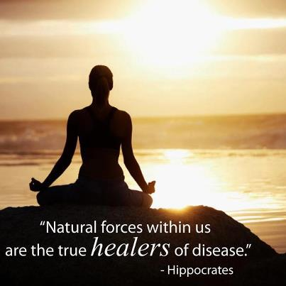 Natural forces within us are the true healers of disease. -Hippocrates