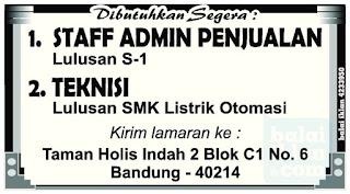 Loker Administrasi Penjualan Bandung