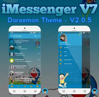 BBM MOD iMessenger V7 Series Doraemon Theme base v3.0.1.25 Apk