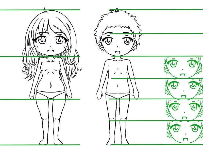 Proportions du corps d'un chibi