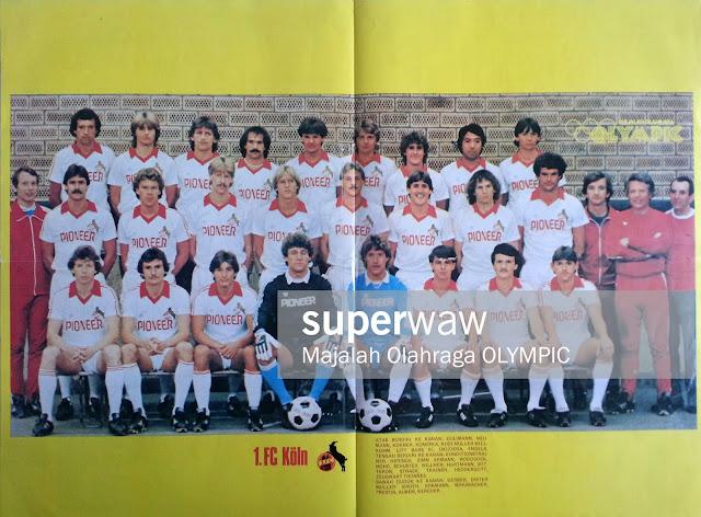 POSTER FULL TEAM 1 FC KOLN 1981