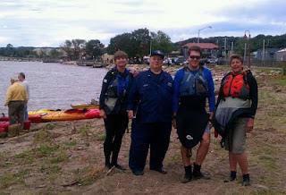 Auxiliarist Bob Daraio with Ossining Kayackers