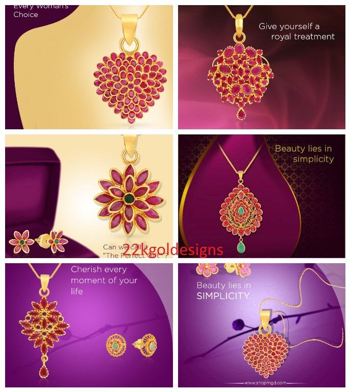 Malabar Ruby Pendant designs
