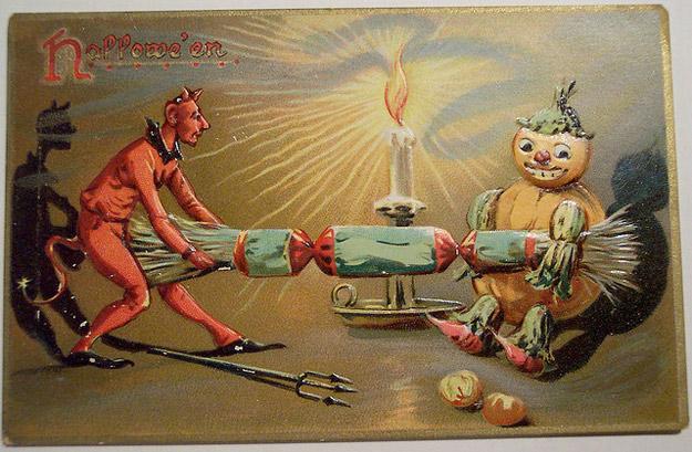 Bizarre Vintage Halloween Postcards Vintage Everyday