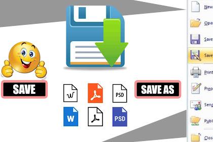 Perbedaan Save dan Save As Saat Menyimpan File