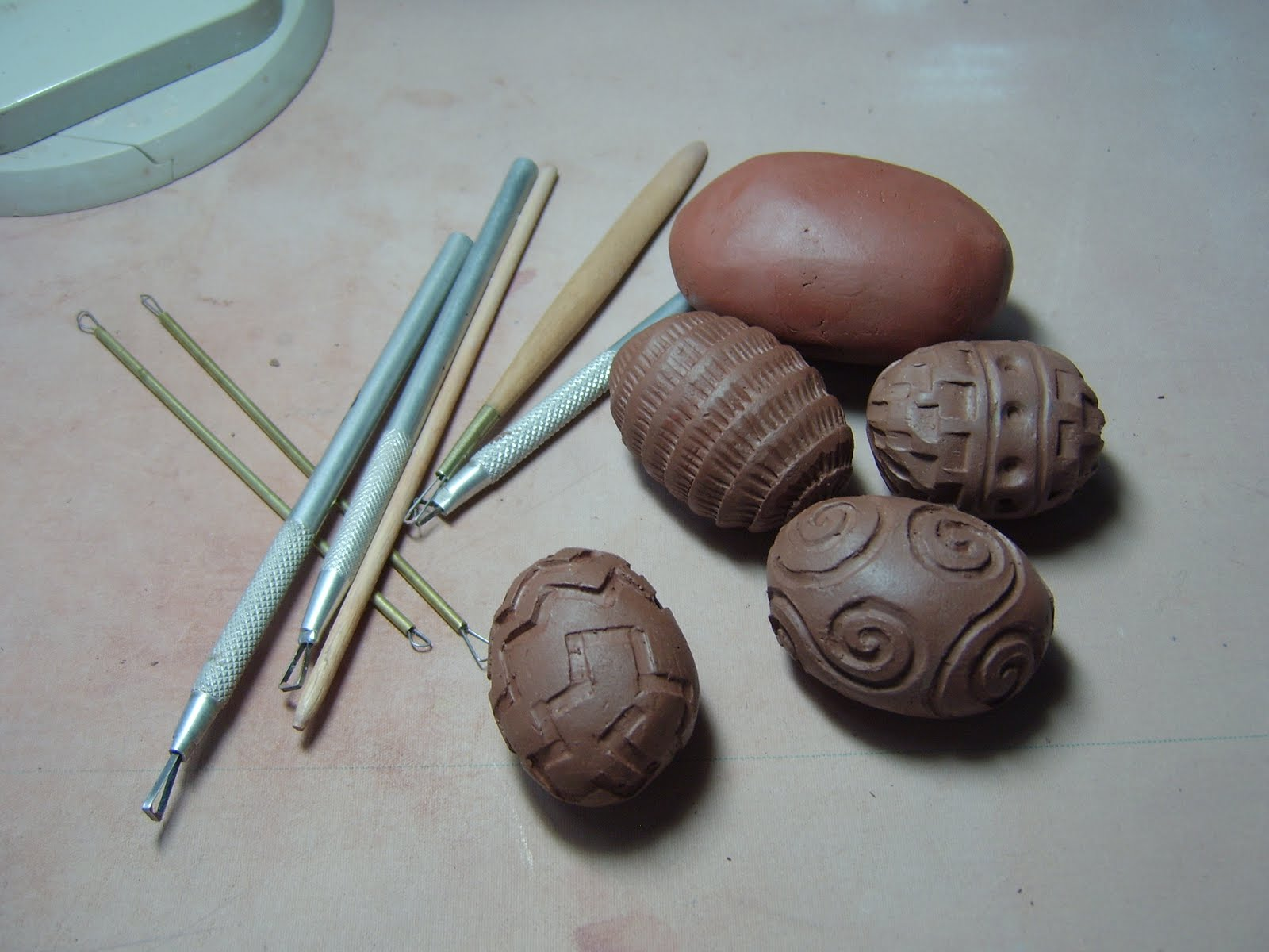 Hand Carved Hollow Beads 8