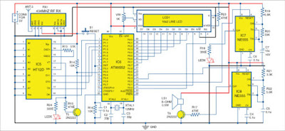 Wireless Security System Using PIR Sensors circuit 1