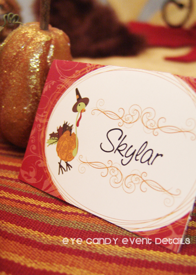 thanksgiving favors, place setting, place cards, pumpkin, thanksgiving table