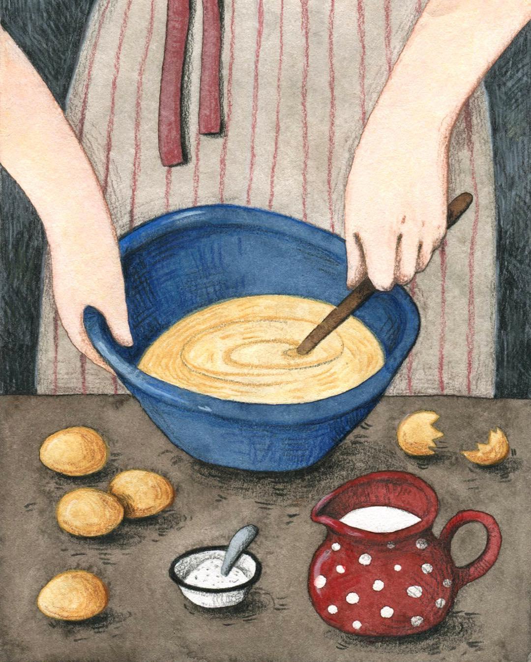 Cozinhar com crianças receita de bolo de maça sem açúcar