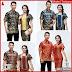 ZBT10909 Kebaya Batik Couple Narita Pendek Terbaru BMGShop