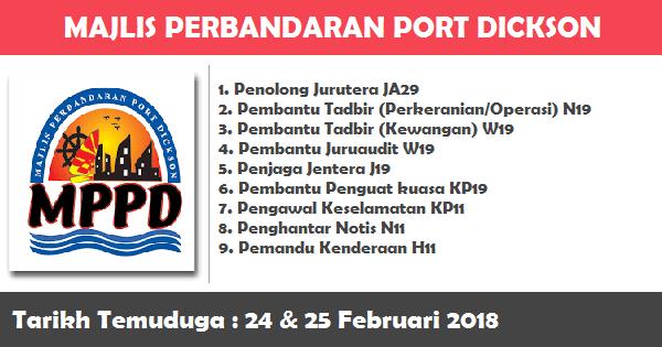 Temuduga Terbuka di Majlis Perbandaran Port Dickson