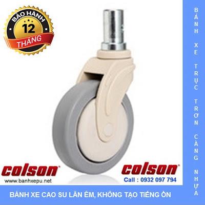 Bánh xe trục trơn giường y tế Colson càng nhựa 5 inch | STO-5851-448 www.banhxeday.xyz