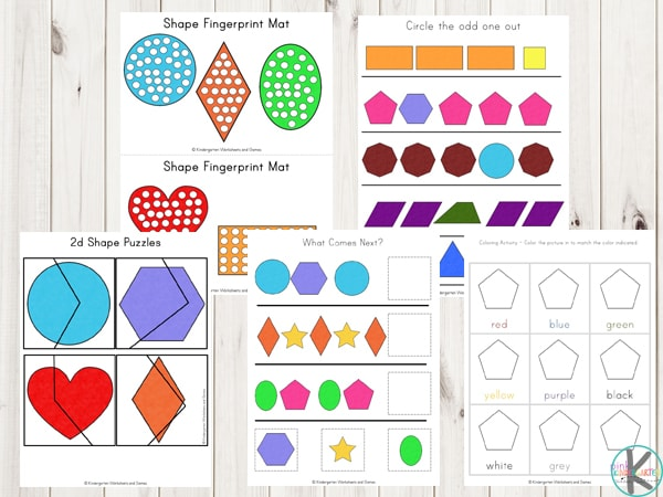 FREE 2d Shape Printables Pack